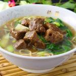 牛バラ肉入り麺(醤油味)