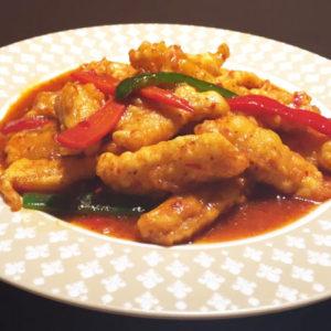 白身魚の辛口炒めセット